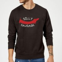 Silly Sausage Sweatshirt - Black - XL - Black - Silly Gifts