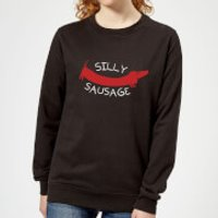 Silly Sausage Women's Sweatshirt - Black - XL - Black - Silly Gifts