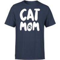 Cat Mom T-Shirt - Navy - L - Navy