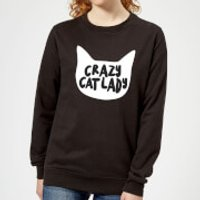 Crazy Cat Lady Women's Sweatshirt - Black - XXL - Black - Crazy Gifts