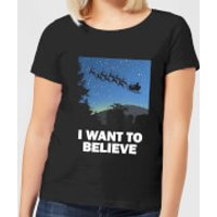 I Want To Believe Women's T-Shirt - Black - M - Black