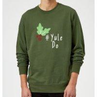 Yule Do Sweatshirt - Forest Green - M - Red