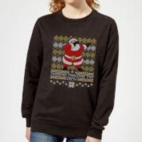 Dabbing through the snow Fair Isle Women's Sweatshirt - Black - L - Black