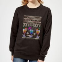 Its Beginning To Look A Lot Like Cocktails Women's Sweatshirt - Black - XXL - Black - Cocktails Gifts