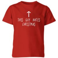 This Guy Hates Christmas Kids T-Shirt - Red - 11-12 Years - Red