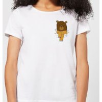 Christmas Bear Pocket Women's T-Shirt - White - M - White