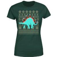 Stegosantahats Women's T-Shirt - Forest Green - XL - Forest Green