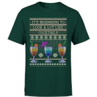 Its Beginning To Look A Lot Like Cocktails T-Shirt - Forest Green - S - Forest Green - Cocktails Gifts