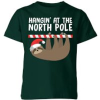 Hangin' At The North Pole Kids' T-Shirt - Forest Green - 9-10 Years - Forest Green