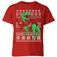 T-Rex Sleeves Kids' T-Shirt - Red - 5-6 Years - Red