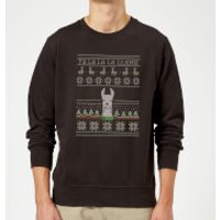 Fa La La La Llama Sweatshirt - Black - L - Black