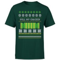 Pull My Cracker T-Shirt - Forest Green - XXL - Forest Green