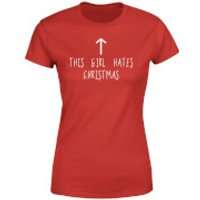 This Girl Hates Christmas Women's T-Shirt - Red - XXL - Red