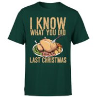I Know What You Did Last Christmas T-Shirt - Forest Green - M - Forest Green