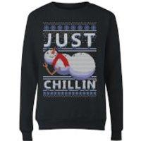 Just Chillin Women's Sweatshirt - Black - S - Black