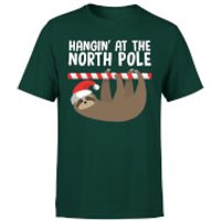 Hangin At The North Pole T-Shirt - Forest Green - XXL - Forest Green