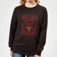Hail Santa Women's Sweatshirt - Black - M - Black