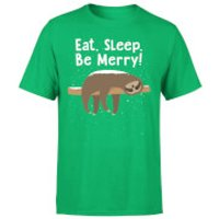 Eat, Sleep, Be Merry T-Shirt - Kelly Green - XL - Kelly Green