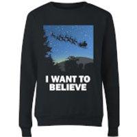 I Want To Believe Women's Sweatshirt - Black - S - Black
