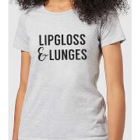 Lipgloss and Lunges Women's T-Shirt - Grey - XS - Grey - Lipgloss Gifts