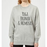 Yoga Brunch and Mimosas Women's Sweatshirt - Grey - XS - Grey