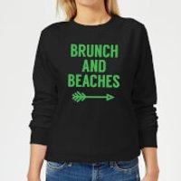 Image of Brunch and Beaches Women's Sweatshirt - Black - 4XL - Black