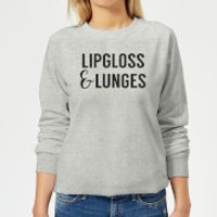 Lipgloss and Lunges Women's Sweatshirt - Grey - XS - Grey - Lipgloss Gifts