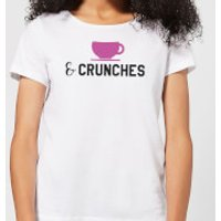 Coffee and Crunches Women's T-Shirt - White - 4XL - White