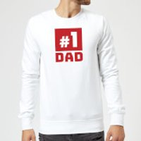 Number 1 Dad Sweatshirt - White - XL - White