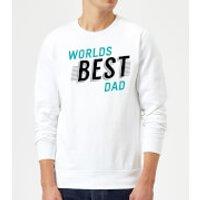 Worlds Best Dad Sweatshirt - White - M - White