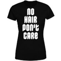 No Hair Dont Care Women's T-Shirt - Black - M - Black