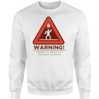 Warning Dad Dancing Sweatshirt - White - XL - White