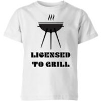 Licensed to Grill Kids' T-Shirt - White - 7-8 Years - White
