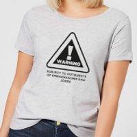 Warning Dad Jokes Women's T-Shirt - Grey - XXL - Grey