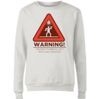 Warning Dad Dancing Women's Sweatshirt - White - XXL - White - Dancing Gifts