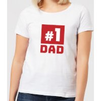 Number 1 Dad Women's T-Shirt - White - 4XL - White