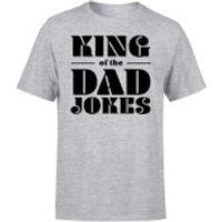 King of the Dad Jokes T-Shirt - Grey - L - Grey