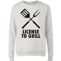 License to Grill Women's Sweatshirt - White - S - White