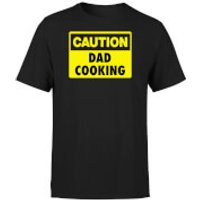 Caution Dad Cooking - Black T-Shirt - 5XL - Black - Cooking Gifts