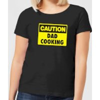 Caution Dad Cooking - Black Womens T-Shirt - XXL - Black - Cooking Gifts