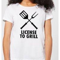 License to Grill Women's T-Shirt - White - L - White