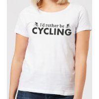 I'd Rather be Cycling Women's T-Shirt - White - S - White
