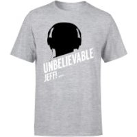 UNBELIEVABLE JEFF! T-Shirt - Grey - 5XL - Grey