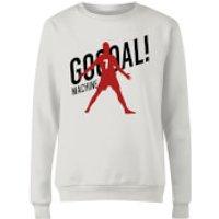 Goal Machine Womens Sweatshirt - White - L - White