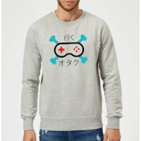 Skull and Cross Bones Controller Sweatshirt - Grey - XXL - Grey