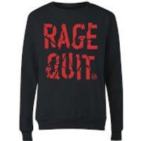 Rage Quit Women's Sweatshirt - Black - S - Black