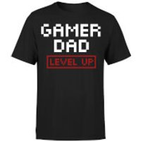 Gamer Dad Level Up T-Shirt - Black - S - Black