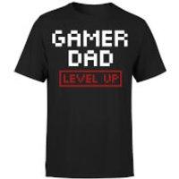 Gamer Dad Level Up T-Shirt - Black - S - Black