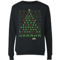 Invaders From Space Womens Sweatshirt - Black - L - Black