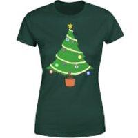 Buttons Tree Women's T-Shirt - Forest Green - XL - Forest Green